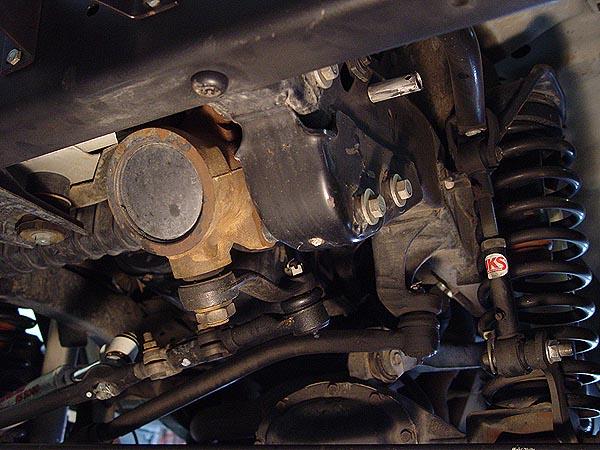 Warn Jeep Steering Box Skid Plate Installation